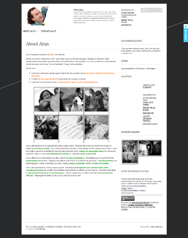 A business site with blog enhancement