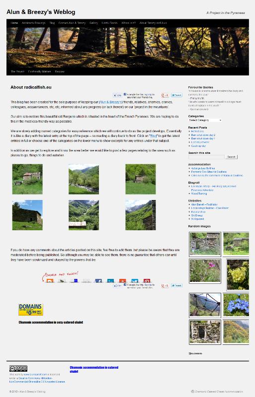 A blog using wordpress as a platform