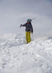 Skier hiking