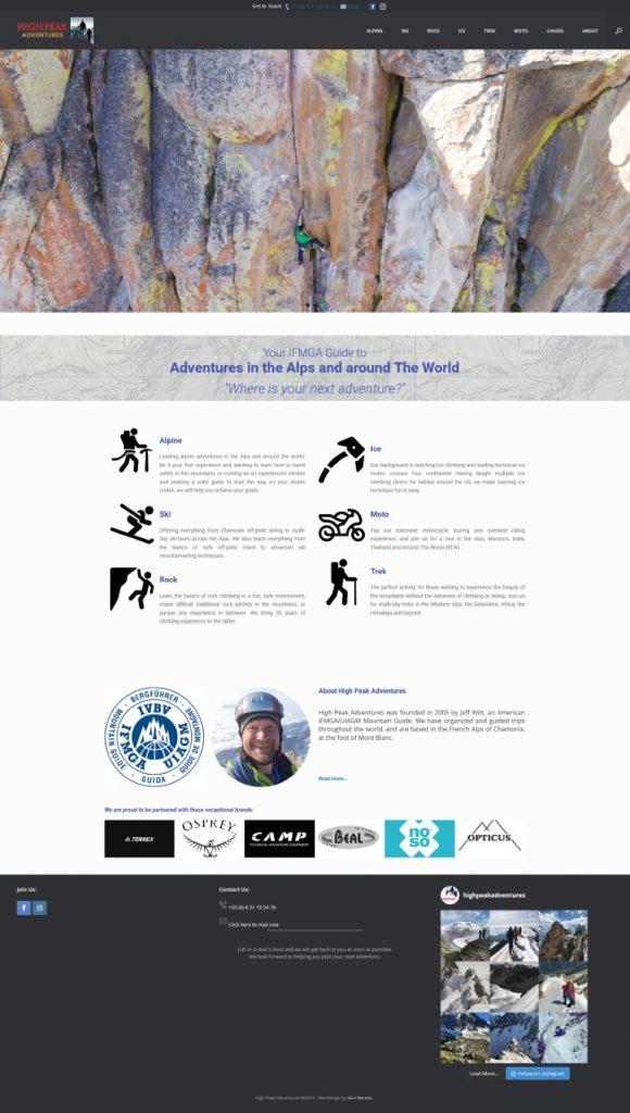 High Peak Adventure website